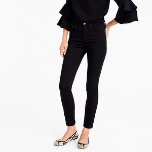 J crew 9 inch high rise toothpick black jeans